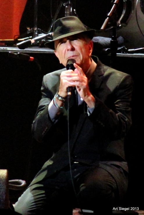 Leonard Cohen: Oakland March 2, 2013 (Photo by Art Siegel)
