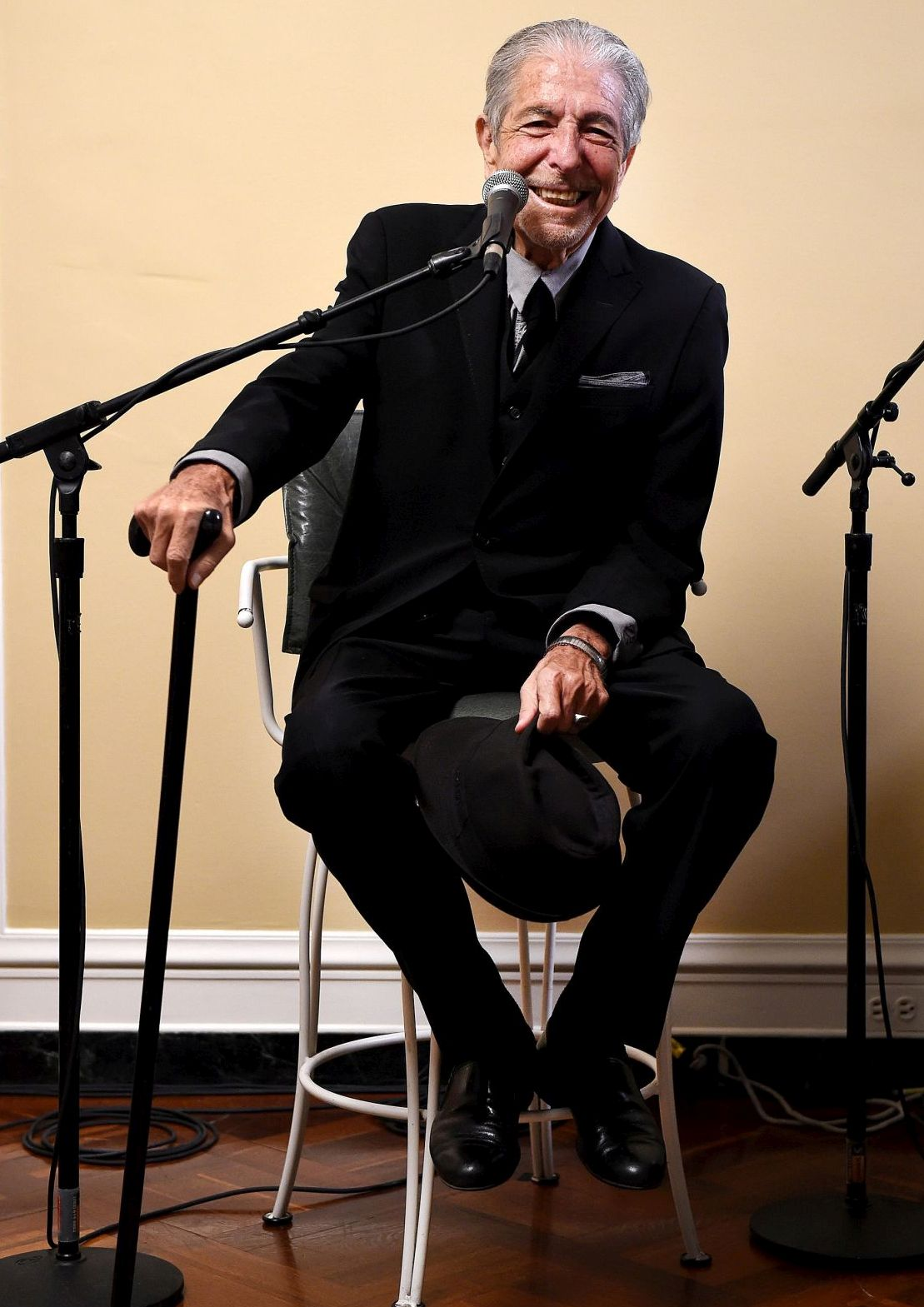 "LOS ANGELES, CA - OCTOBER 13, 2016: Leonard Cohen event for the release of his new album ""You Want It Darker"" on October 13, 2016 in Los Angeles, California. (Photo by Frank Micelotta/Sony Music Canada)"